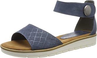 Marco Tozzi Womens 2-2-28118-22 Ankle Strap Sandals, Blue (Ocean 803), 4 UK