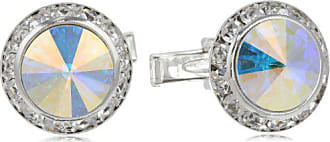 Stacy Adams Stacy Adams Mens Silver Aurora Borealis Rondell Cuff Link, Off Off White, One Size