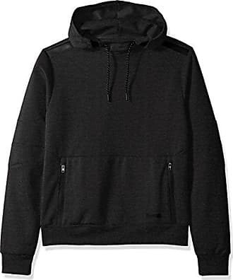 Southpole Mens Tech Fleece Hooded Tops (Full-Zip, Pullover), Heather Charcoal, Large