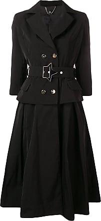 Elisabetta Franchi blazer style midi dress - Black