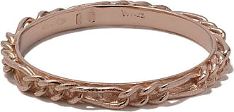 Wouters & Hendrix 18kt rose gold Figaro Chain ring - PINK GOLD