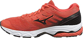 Mizuno Womens Wave PRODIGY 2 Running Shoes, Orange (Hot Coral/Blk 10), 5.5 (38.5 EU)