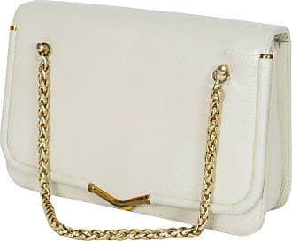 b68f814fdd Judith Leiber Ivory Lizard Chain Handbag With Coin Purse