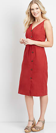 Maurices Linen Button Front Dress