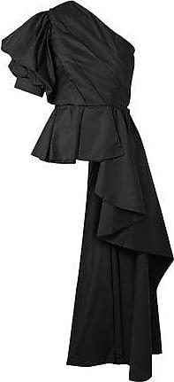 Johanna Ortiz Johanna Ortiz Woman Pampas One-shoulder Ruffled Cotton-blend Poplin Top Black Size 0