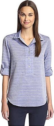 Hutch Womens Chambray Pop Over Blouse, Indigo, XS