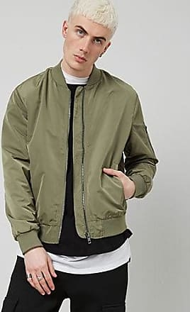 21 Men Solid Bomber Jacket at Forever 21 Olive