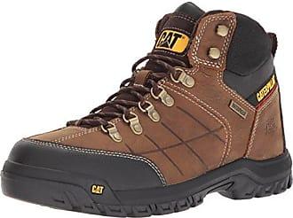 CAT Mens Threshold Waterproof Industrial Boot, Brown, 10 W US