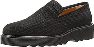 4830b03e86c Aquatalia Womens Kelsey Mini Emboss Suede Loafer Black 10.5M M US