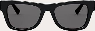 Valentino Valentino Occhiali Rectangular Acetate Frame With Vlogo Man Black Acetate 100% OneSize