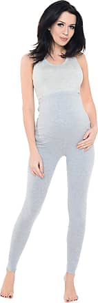 Purpless Maternity Pregnancy Leggings Belly Support Stretchy Long Over Bump Cotton Trousers for Pregnant Women 1025 (12, Gray1 Melange)