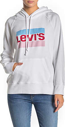 Levi's women's Graphic Sport Hoodie In cashmere  Blue//Light Blue Size Small.