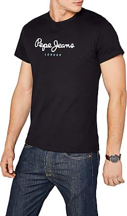 Pepe Jeans London Mens EGGO PM500465 T-Shirt, Black, 2X-Large