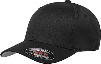 Yupoong Flexi fit Baseball caps, Mens & Ladies Flexfit Hats, Plain Fitted Hip hop Designer (L/XL (58-60CM), Black)