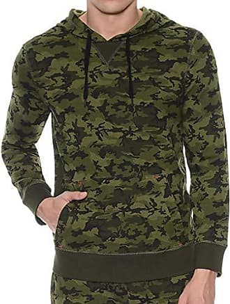 2(x)ist Mens Terry Hooded Pullover, Olive Camo, Medium