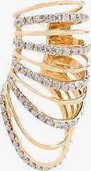 Yvonne Léon Womens Metallic 18k Yellow Gold Multi Hoop Diamond Ear Cuff
