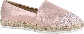 0697d94991d028 Stiefelparadies Damen Schuhe Lack Espadrilles Glitzer Slipper Flats  Profilsohle 156207 Rosa Glitzer 39 Flandell
