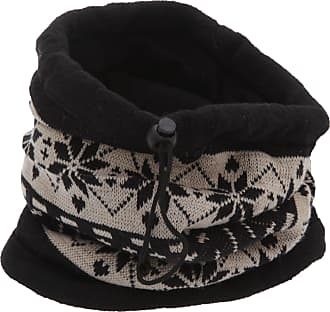Universal Textiles Unisex Patterned Snowflake Design Multifunctional Winter Hat/Snood/Mask (One Size) (Black/Beige)