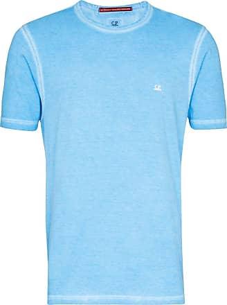 C.P. Company Camiseta de algodão com estampa de logo - Azul