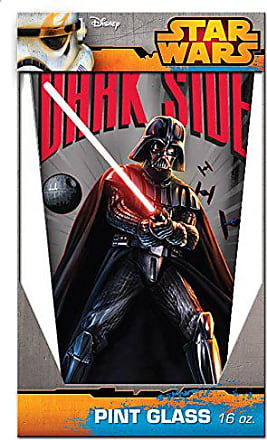 Disney Silver Buffalo SW38031P Star Wars Come to the Dark Side Pint Glass, 16-Ounces