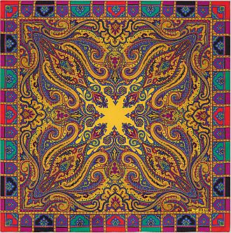 Etro Einstecktuch Mit Paisley-print, Herren, Gelb
