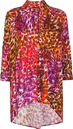 Natori Camisa oversized com estampa de leopardo - Vermelho