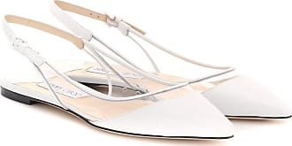 Jimmy Choo London Erin PVC and leather slingback flats