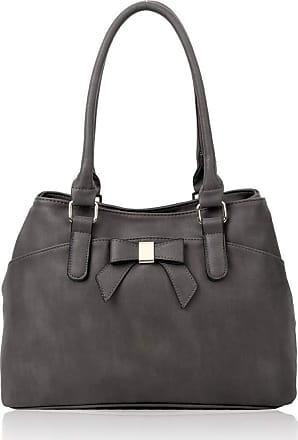 LeahWard Womens Bow Shoulder Bags Large School Handbags R08 (D.Grey)