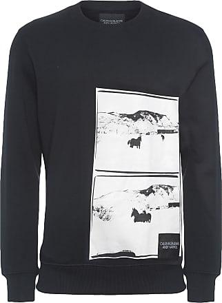 Calvin Klein BLUSA MASCULINA DE MOLETOM ANDY WARHOL LANDSCAPE - PRETO