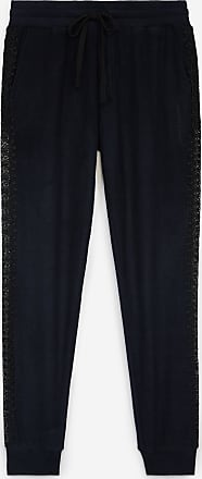 The Kooples Blue fleece joggers with lace details - WOMEN