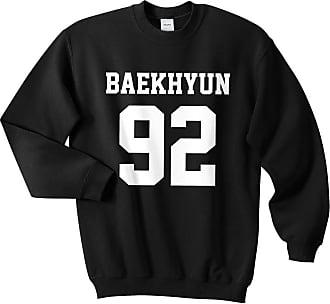 Sanfran Clothing Sanfran - Baekhyun 92 Top Kpop Boyband Exo Suho Sehun Fangirl Maknae Jumper Sweater - Medium/Black