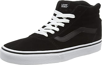 Vans Womens Ward Hi-Top Trainers, Black ((Suede) Black/White 0xt), 2.5 UK