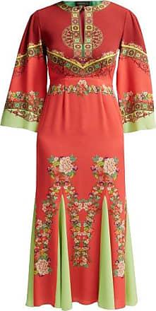 Etro Taico Printed Crepe Dress - Womens - Red Print