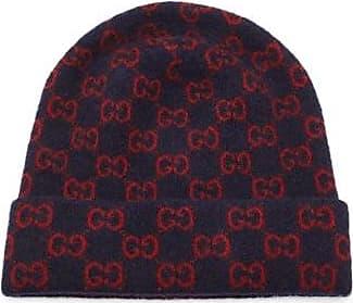 Gucci Bonnet en laine à jacquard logo GG