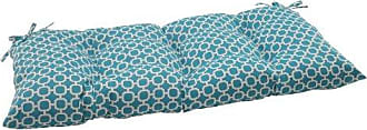 Pillow Perfect Indoor/Outdoor Hockley Teal Swing/Bench Cushion