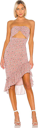 Superdown Dion Strapless Dress in Pink