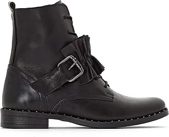 a16d2be372f6 La Redoute Collections Boots effet vernis, noeud - LA REDOUTE COLLECTIONS -  Noir