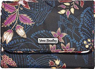 Vera Bradley Womens Iconic Performance Twill RFID Riley Compact Wallet, Garden Dream, One Size