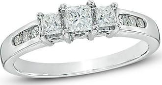 Zales 1/2 CT. T.w. Princess-Cut Diamond Past Present Future Ring in 14K White Gold