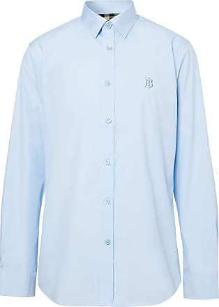 Burberry Camisa com bordado EKD - Azul