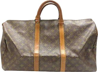 Louis Vuitton Keepall Monogram 50 232432 Brown Coated Canvas Weekend travel  Bag 739a8129e0215