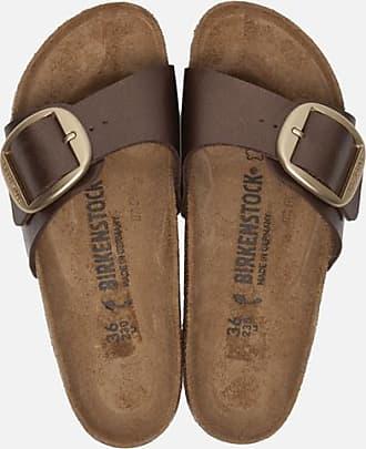 Birkenstock Madrid Big Buckle slippers bruin