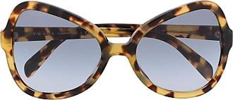 Prada Óculos de sol oversized - Marrom