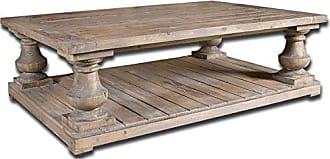 Uttermost 24251 Stratford Rustic Cocktail Table, Stony Gray Wash