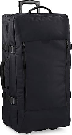 BagBase Bagbase Escape Dual-Layer Large Cabin Wheelie Travel Bag/Suitcase (95 Litres) (One Size) (Black)