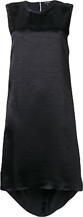 Ann Demeulemeester sleeveless midi shift dress - Preto