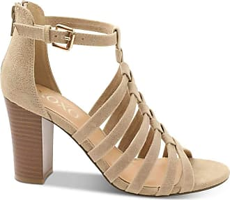 xoxo Womens Bassett Cotton Open Toe Formal Strappy, Sand Micro, Size 10.0 US / 8 UK US