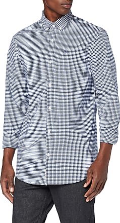 Original Penguin Mens Gingham Casual Shirt, Blue (Estate Blue 414), XX-Large (Size:XXL)