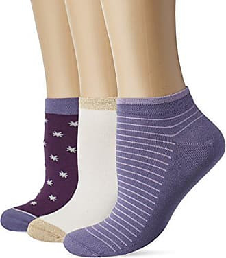 c84908c63aa Dim Pocket coton Socquette courte Pockets Coton Etoiles X3 Chaussettes Femme  NA Multicolore (Violet