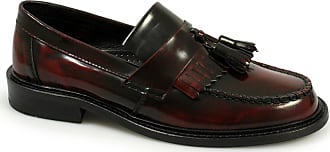 Ikon SELECTA Ladies Polished Leather Tassel Loafers Oxblood UK 7